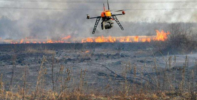 drone pour incendie surveillance