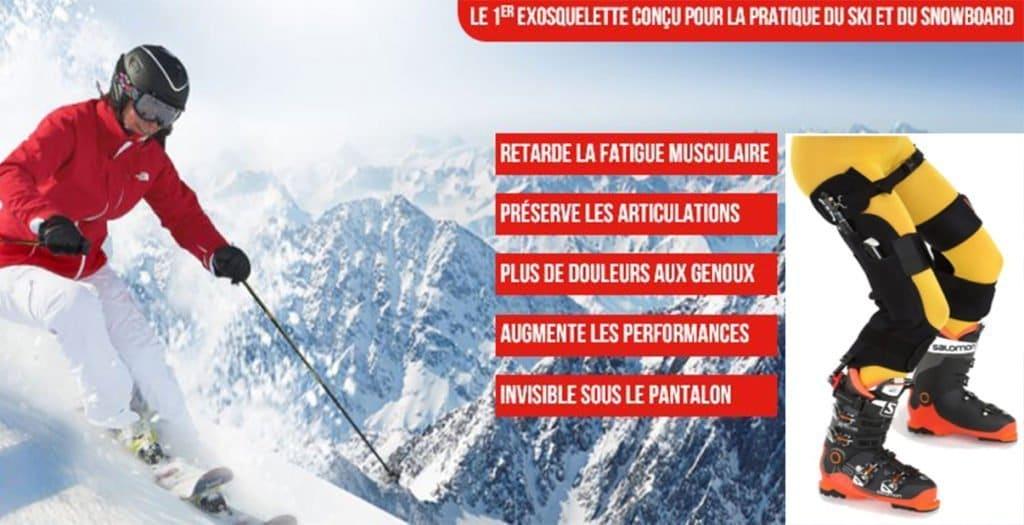 exosquelette ski snowboard innovation