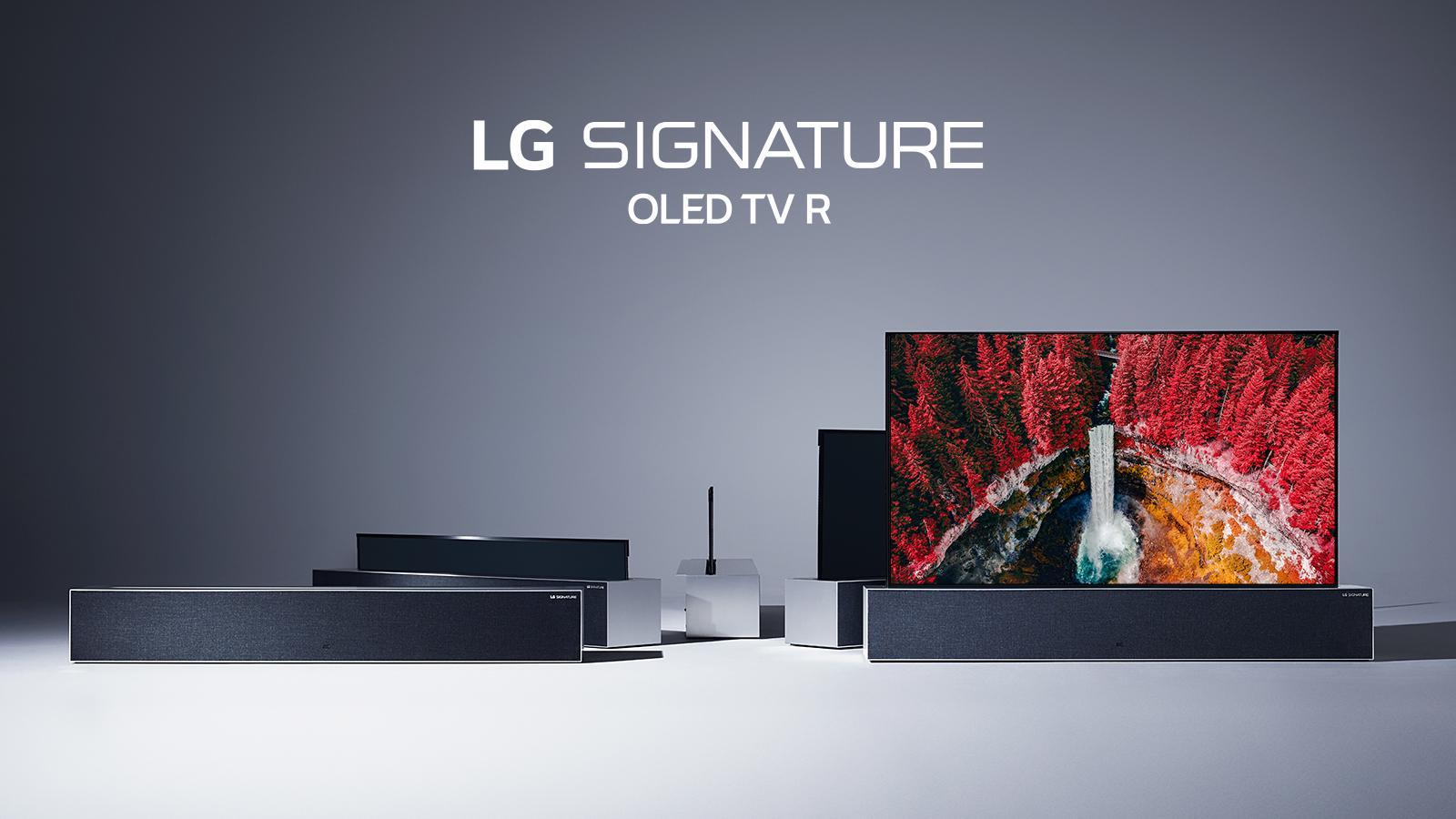 Smart TV LG OLED 65R9PUA : Ecran TV Enroulable Signature R9