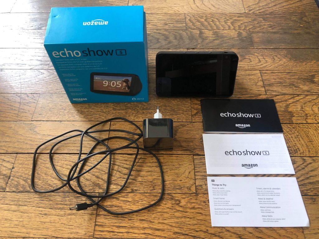 contenu accessoires packaging echo show 5