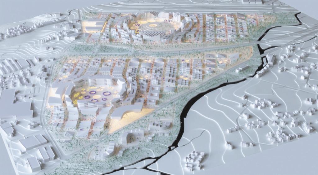 plan de la ville futuriste