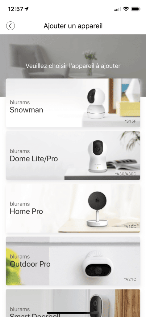 Application blurams cameras