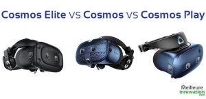 HTC Vive Cosmos VS Cosmos Play VS Cosmos Elite différences comparatif