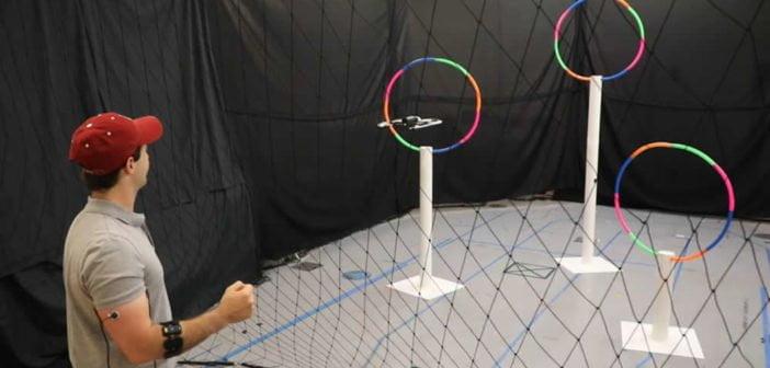 Contrôle musculaire pour le pilotage d'un drone MIT
