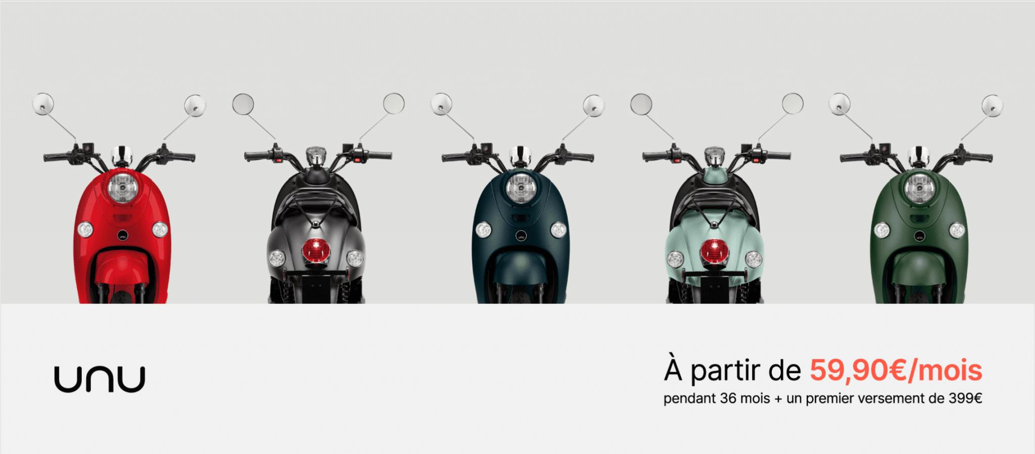 leasing location scooter electrique unu france
