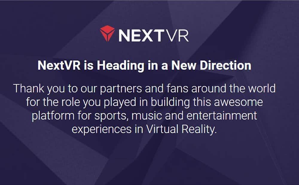 Rachat de la start-up Next VR par Apple