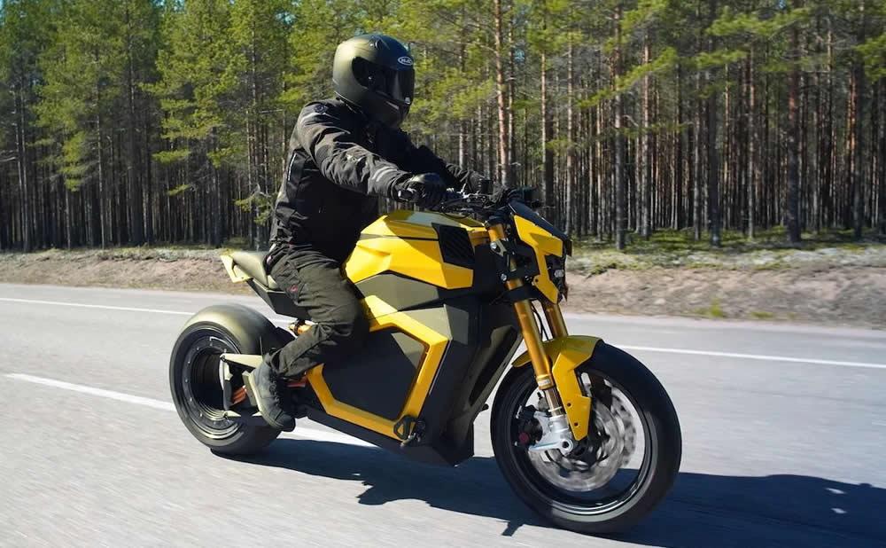 Verge TS moto électrique futuriste