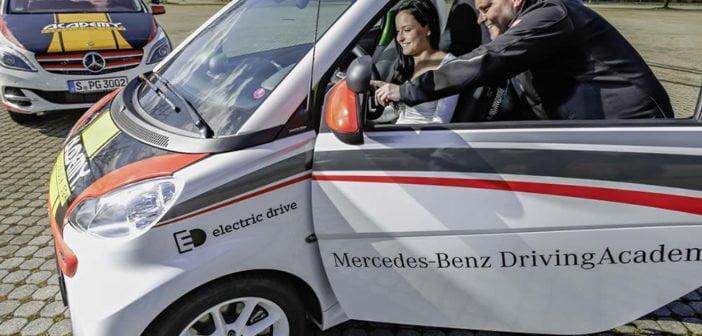 Apprendre la conduite sur une voiture électrique