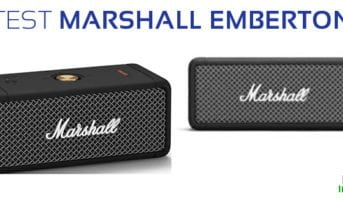 test marshall emberton enceinte portable