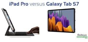 tablette tactile ipad pro vs galaxy tab s7