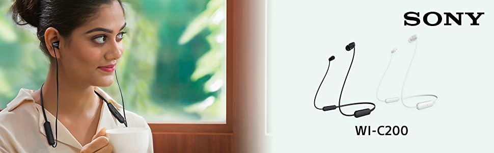 écouteurs sans-fil tour de cou sony  WI-C200