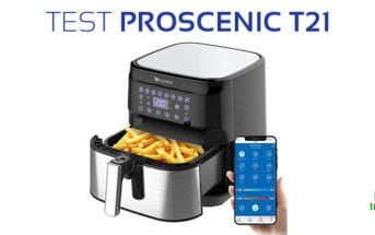 test proscenic t21 friteuse sans huile connectee