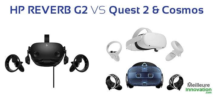 HP Reverb G2 vs Oculus Quest 2 vs HTC Vive Cosmos : quel est le meilleur casque VR ?