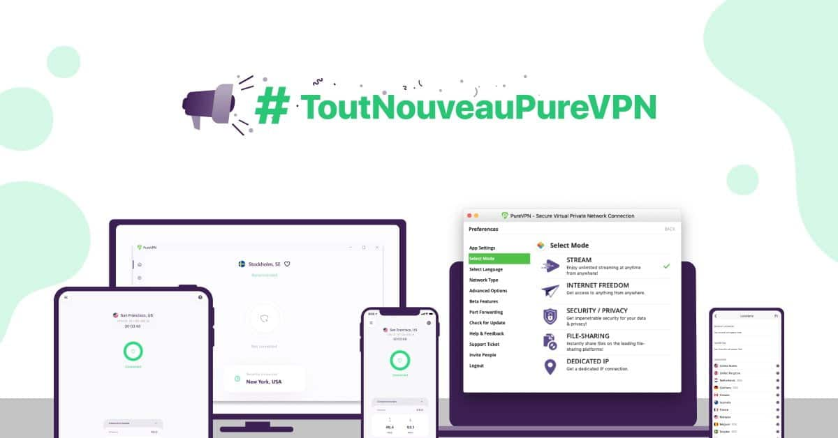 nouvelle application vpn purevpn
