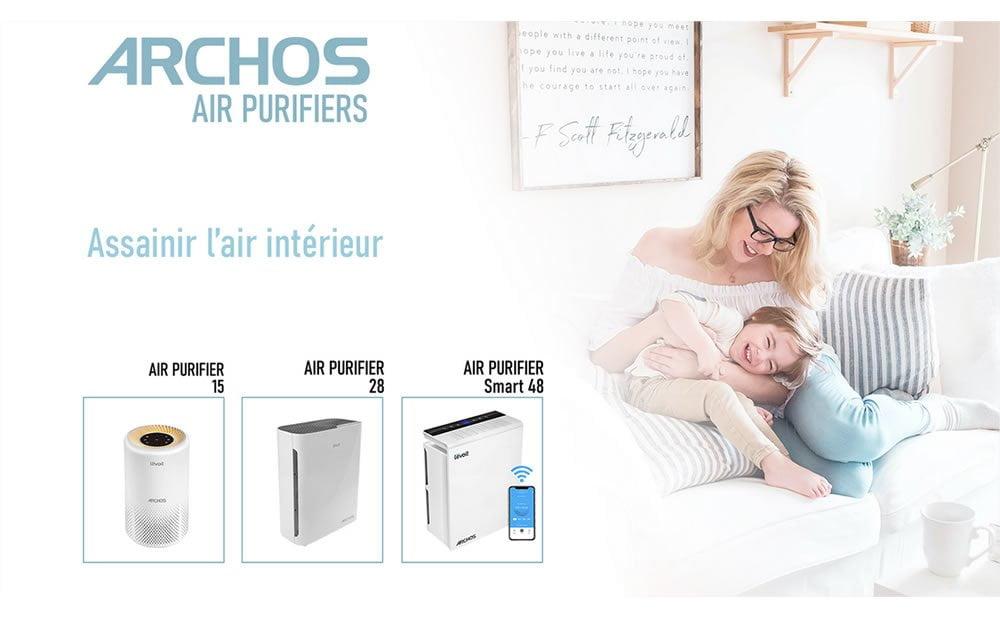 Archos présente une nouvelle gamme de 3 purificateurs d'air