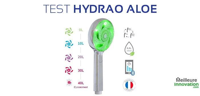 Test pomme de douche connectée Hydrao Aloé