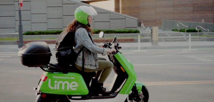 Lime Scooters électriques à Paris au printemps