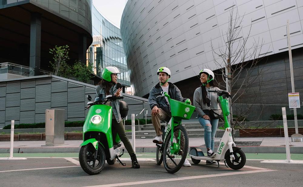 Lime scooters électriques