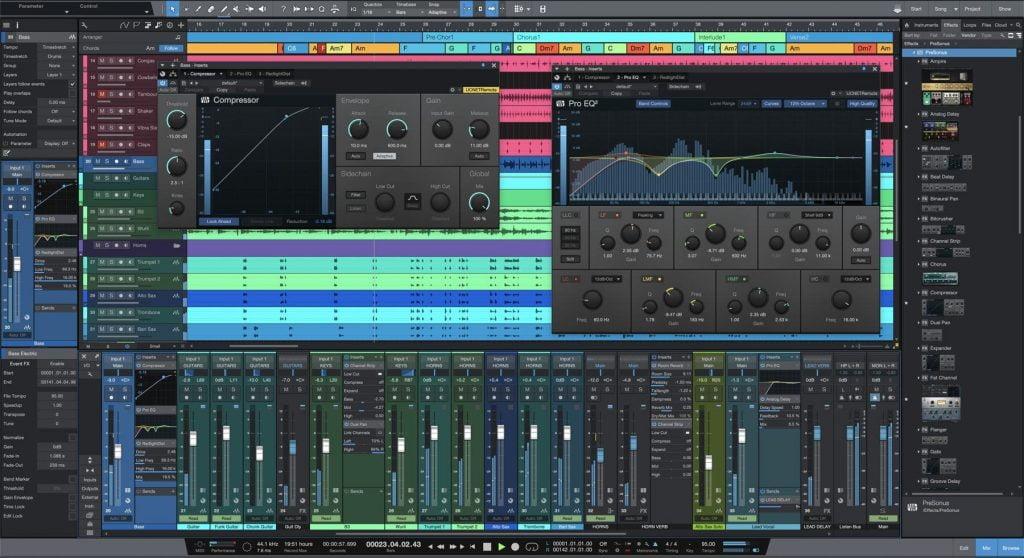 meilleurs logiciels de création musicale PreSonus Studio One