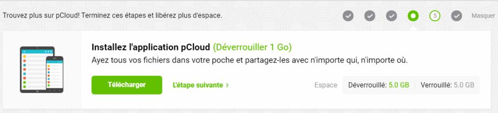 Dévérouiller de Go sur pCloud