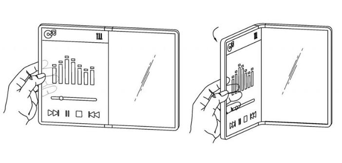 schéma brevet smartphone transparent LG