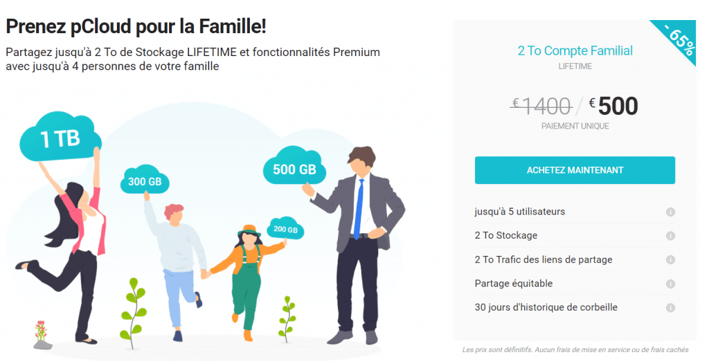 pCloud famille