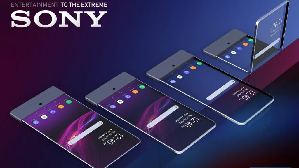 Concept 3D brevet sony smartphone transparent