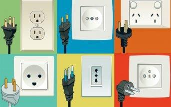 illustration différentes prises électriques