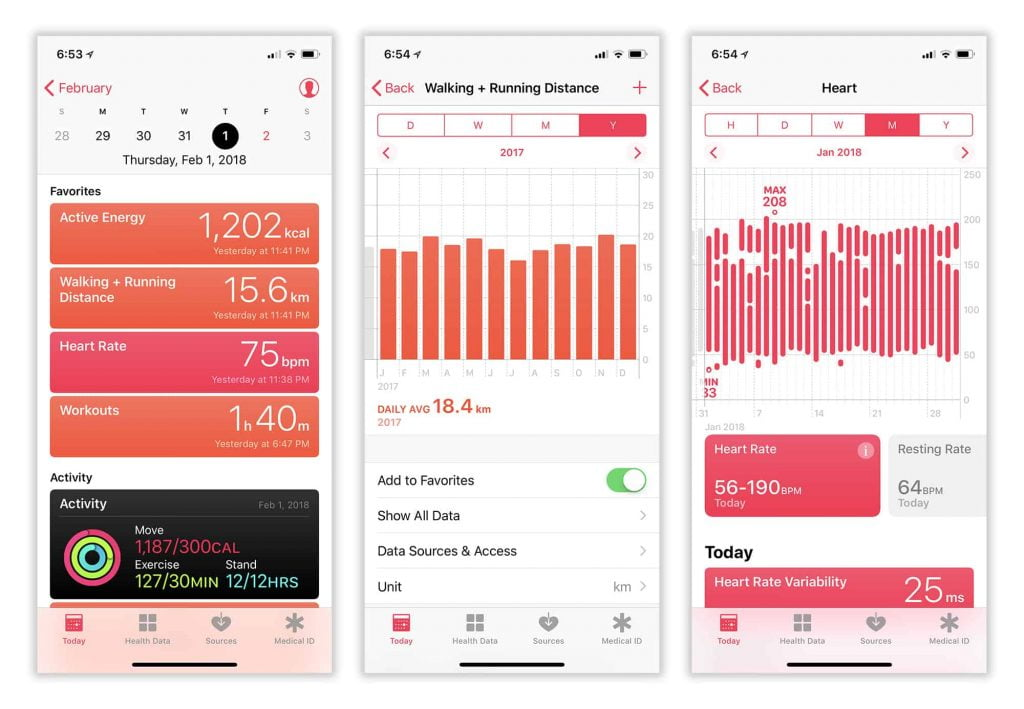 Apple Health fonctionnalités principales