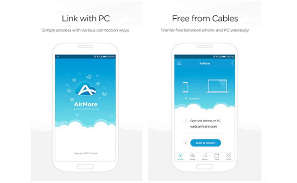 AirMore transfert de fichiers depuis Android vers PC sans câble