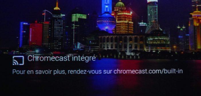 L'option Chromecast permet de visionner le contenu de son smartphone sur le projecteur