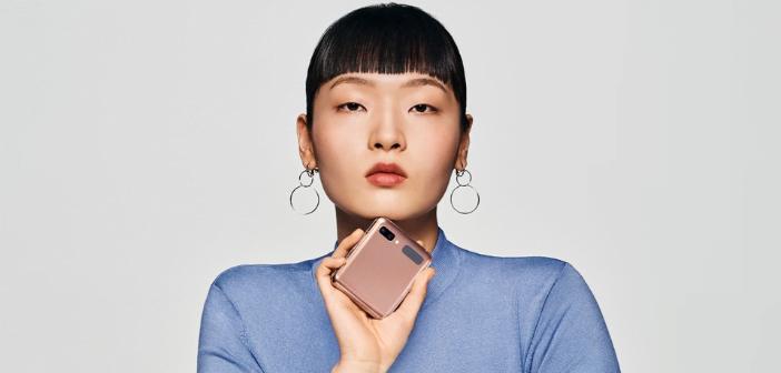 Smartphone pliable Samsung galaxy z flip plié