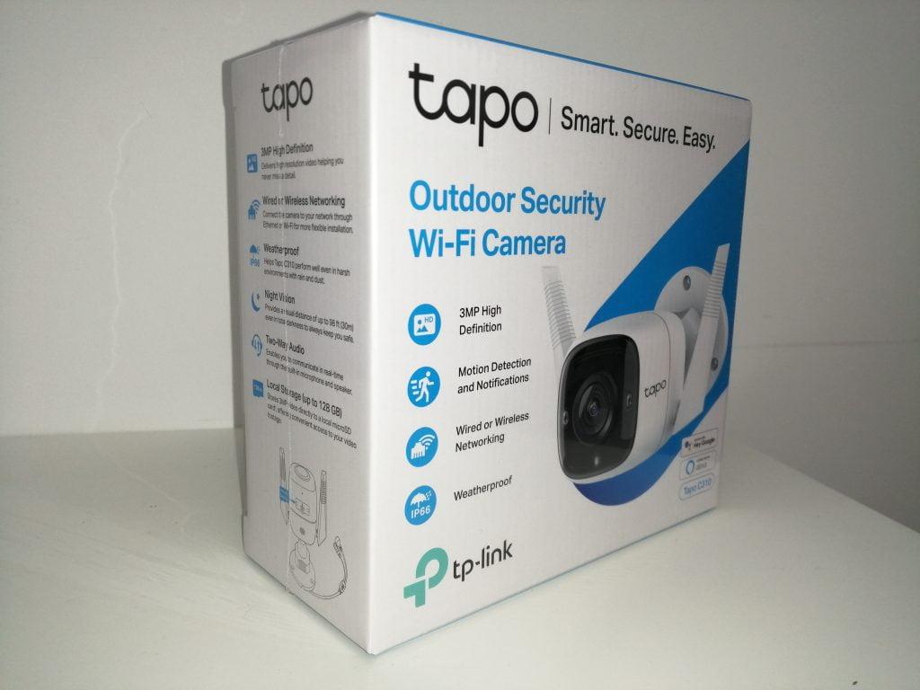 Caméra de surveillance Tapo TP LINK Packaging