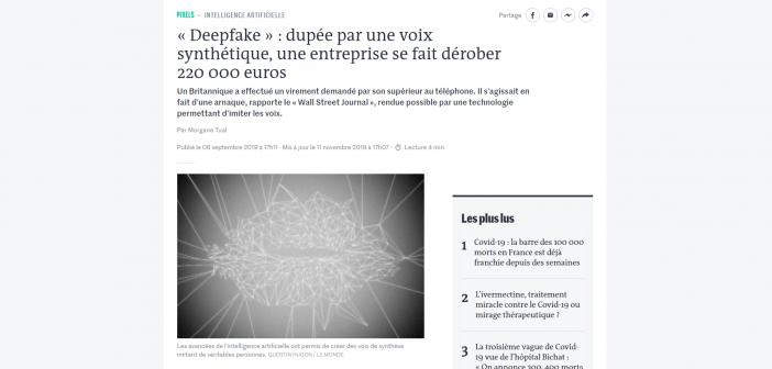 Les deepfakes sont dangeureux, il faut s'en méfier