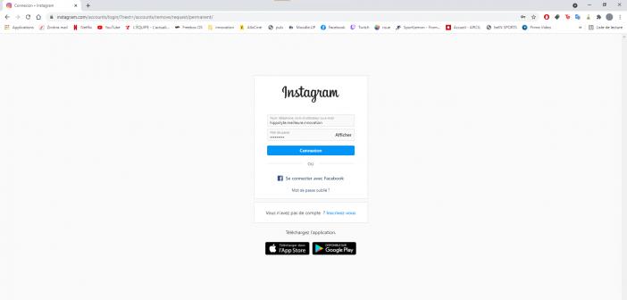 il faut d'abord se connecter à instagram web