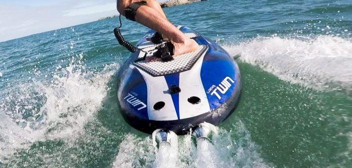 Le JetSurf ou planche électrique permet de faire du surf sans vague