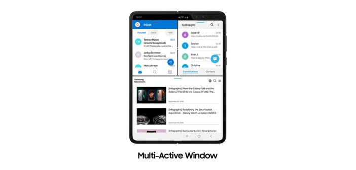 La possibilité d'afficher plusieurs application simultanément est une option possible grâce au OneUI
