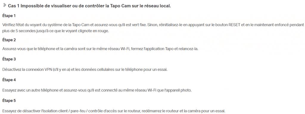 Protocole réseau Tapo Link