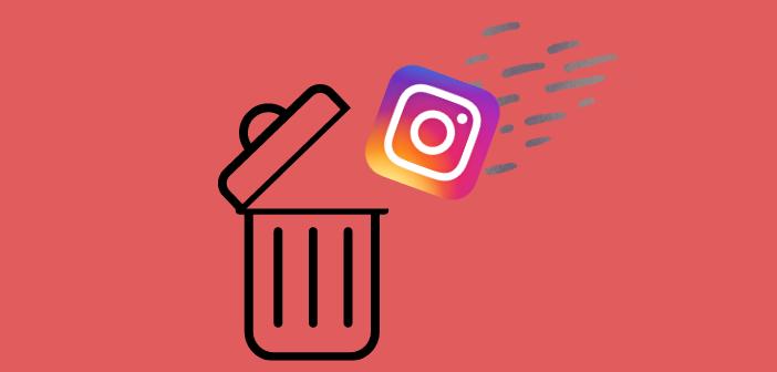 Mettre instagram à la poubelle demande de suivre plusieurs étapes