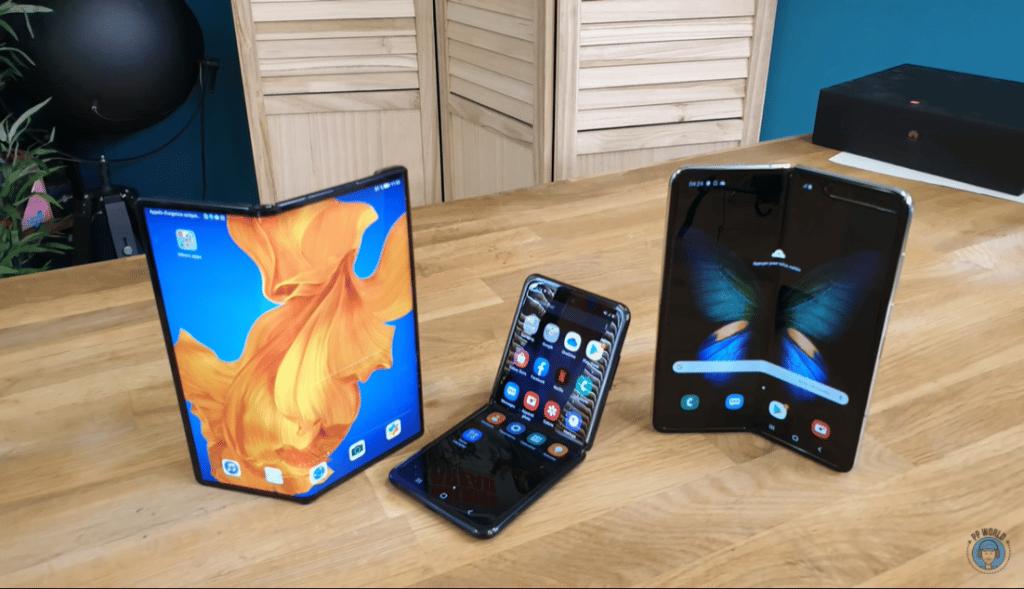 Téléphones pliables différents types d'écran