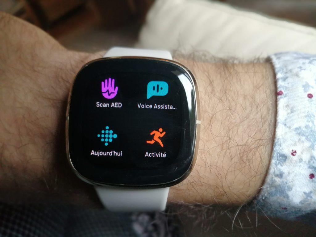 Test montre connectée fitbit interface