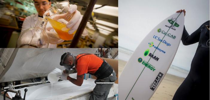 L'algae technology permet de transformer les algues vertes en plastique et ainsi créer des planches écoresponsables