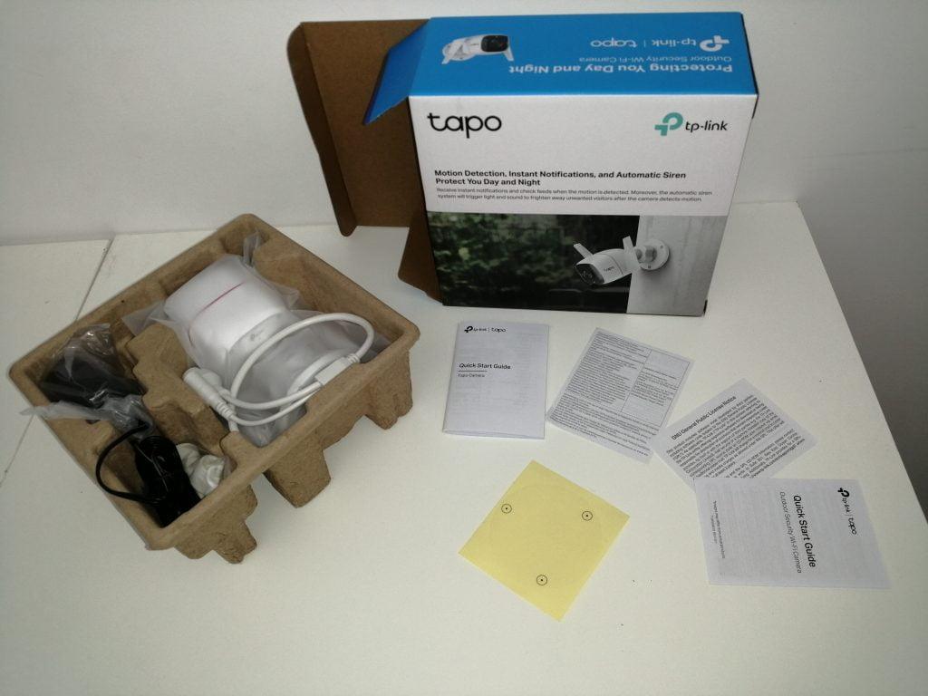 Unboxing test caméra connectée Tapo