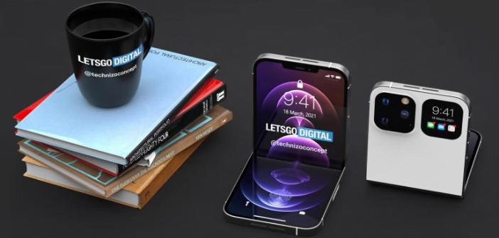Concept Lets go digital iPhone Flip pliable