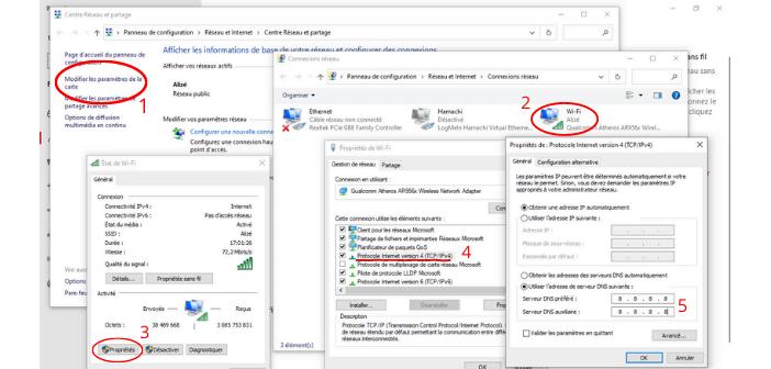 modifier DNS windows