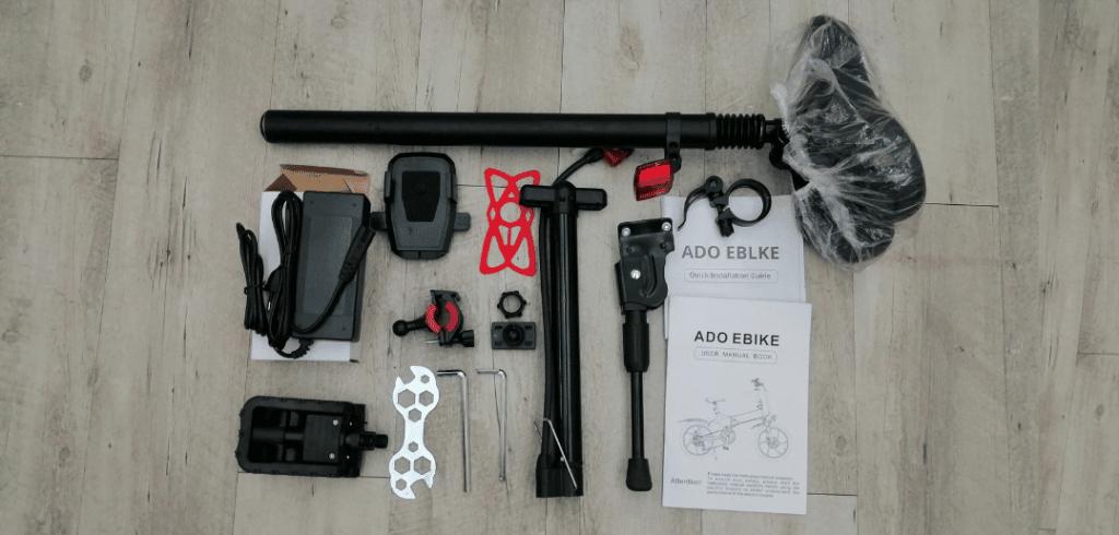 unboxing vélo électrique Ado-A20