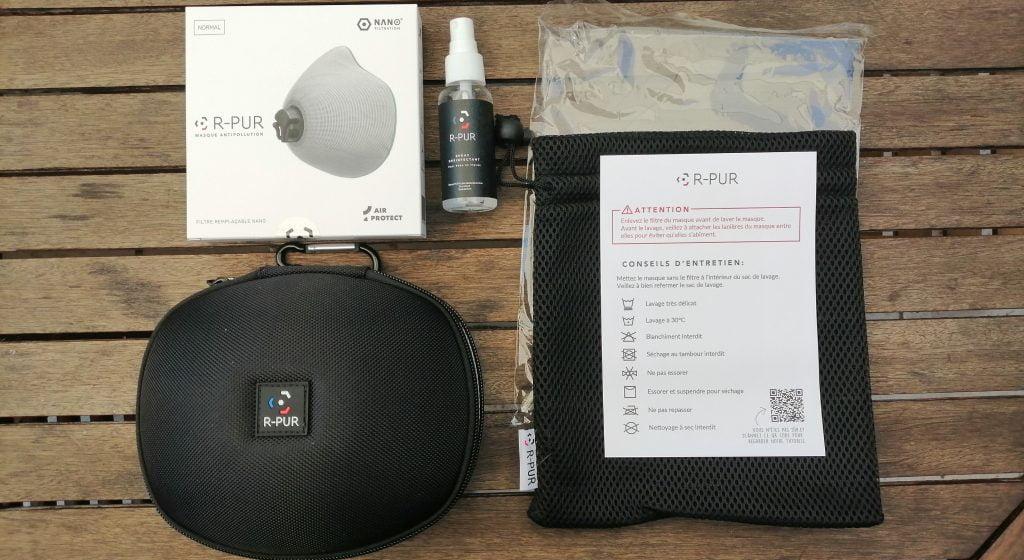 les accessoires disponibles pour le masque r-pur nano light