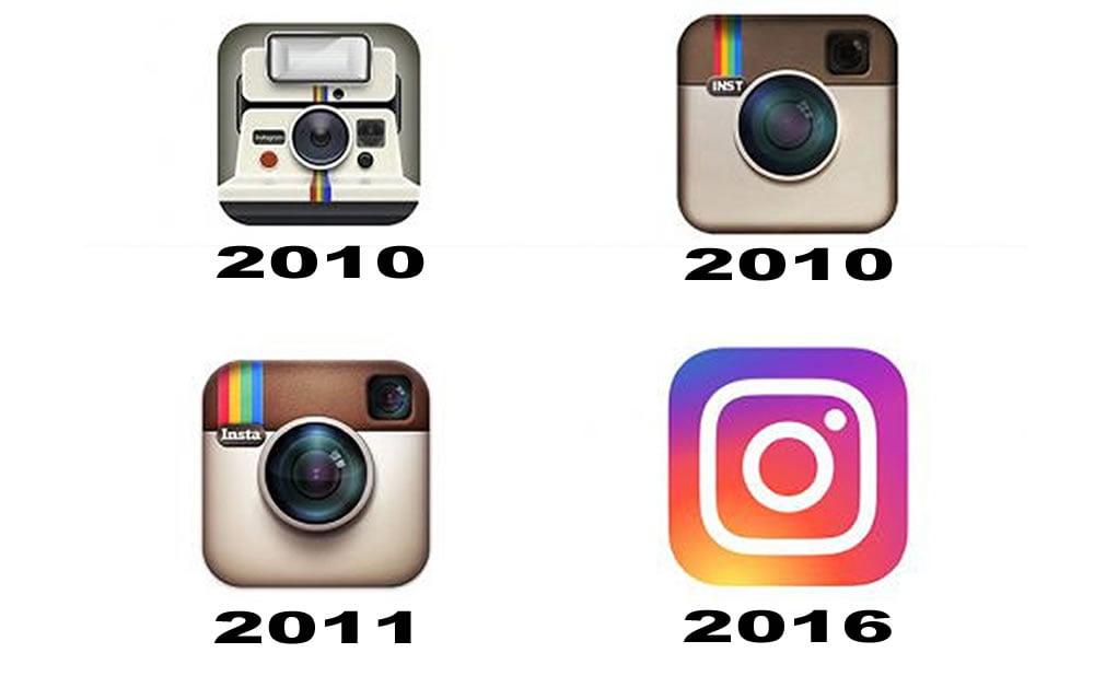 Logo Instagram évolution
