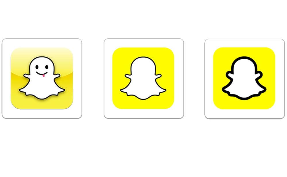 Logo Snapchat évolution temps