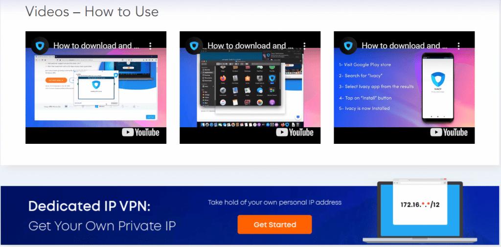 Vidéos guide pour utiliser Ivacy VPN